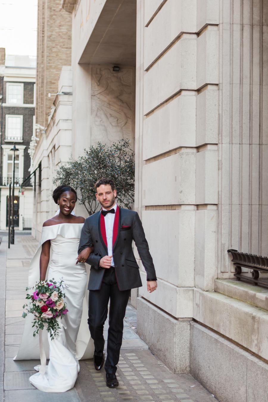 Breathtakingly beautiful - diversity wins in this stunning RSA London wedding editorial! (2)