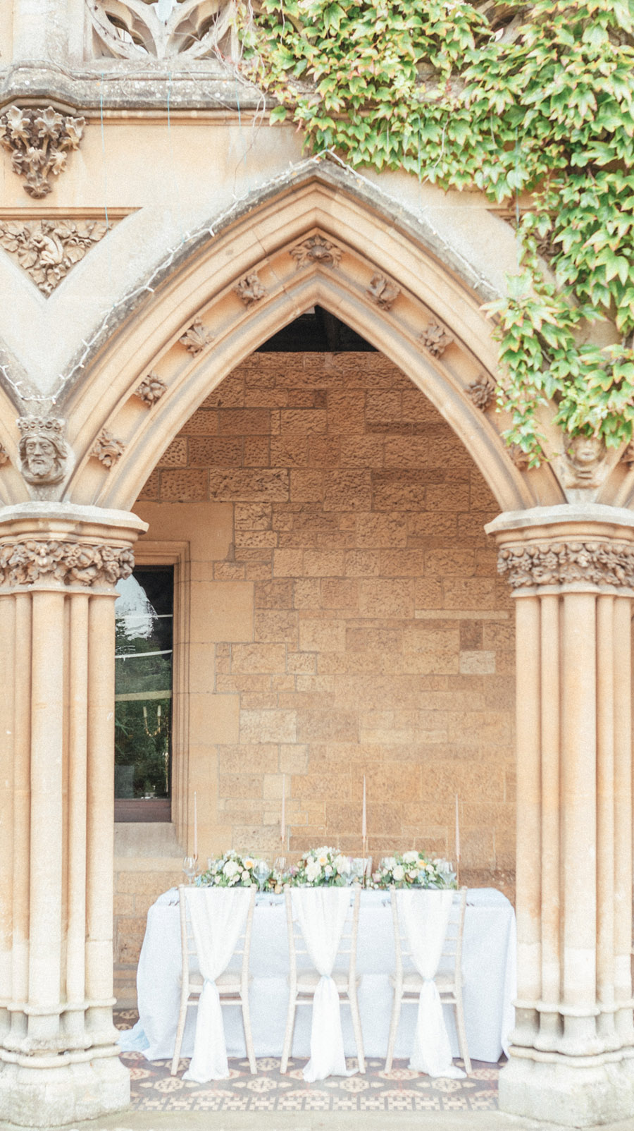 French Manor Styled Wedding Shoot in delicate blues, with Hannah McClune Photography on English Wedding Blog (1)