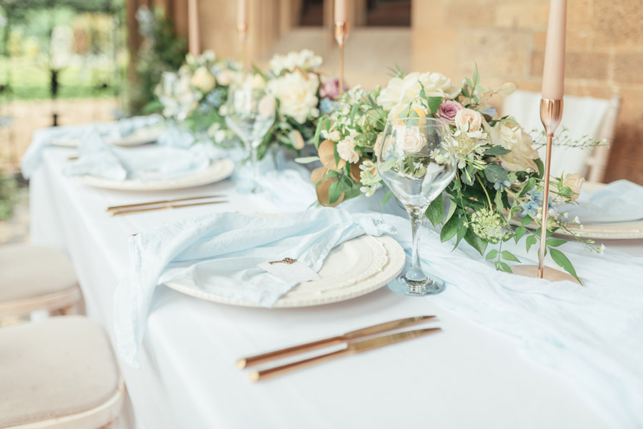 French Manor Styled Wedding Shoot in delicate blues, with Hannah McClune Photography on English Wedding Blog (6)