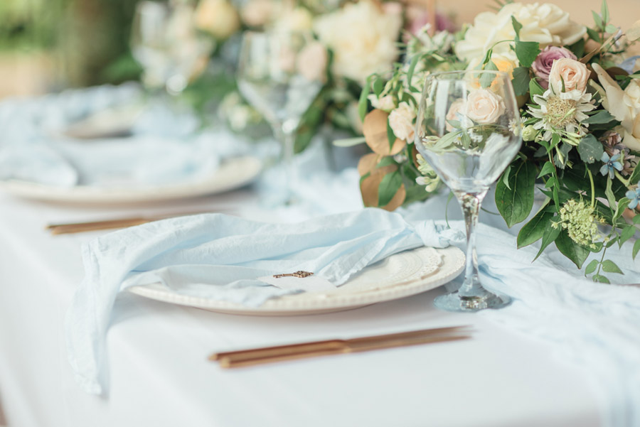 French Manor Styled Wedding Shoot in delicate blues, with Hannah McClune Photography on English Wedding Blog (7)
