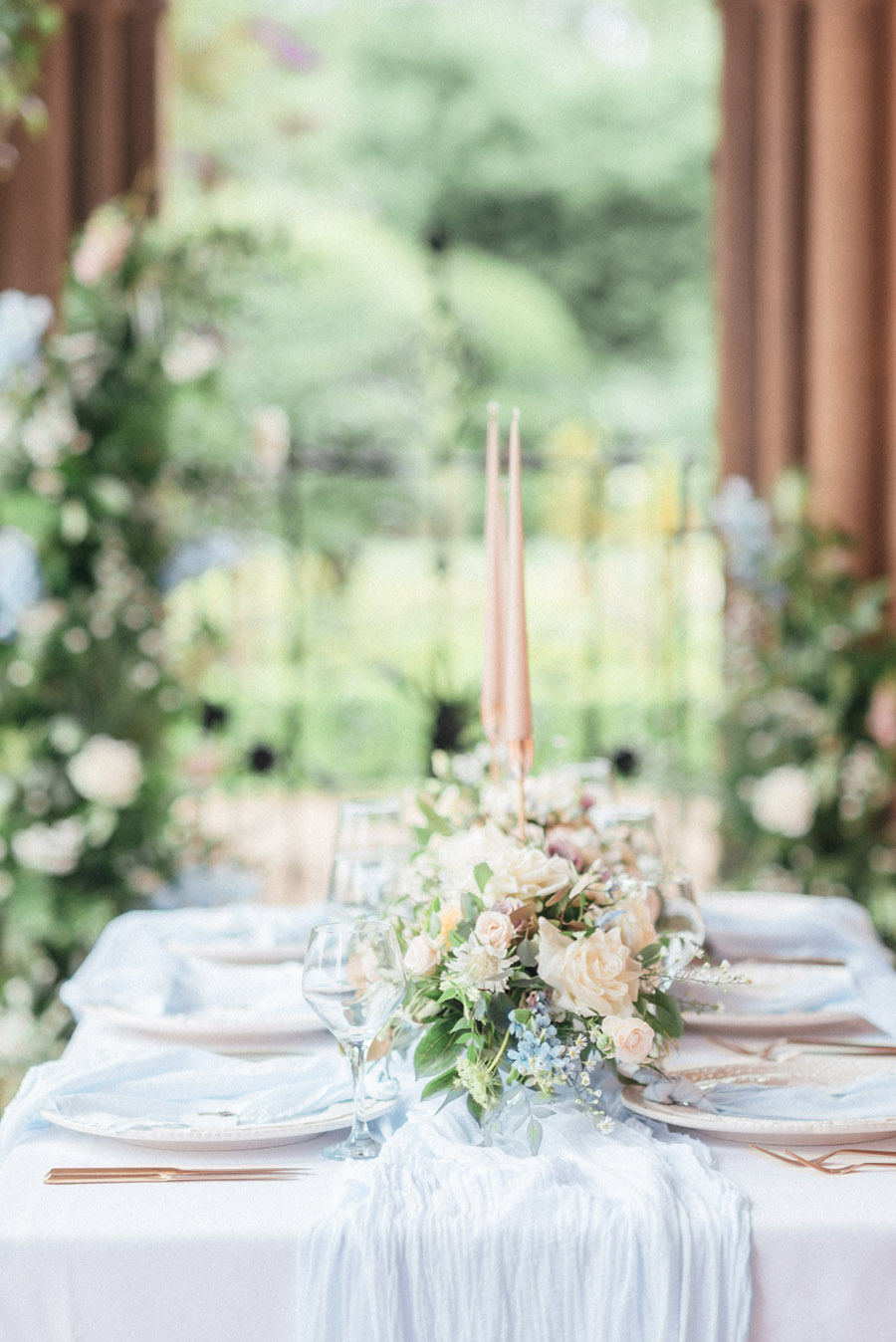 French Manor Styled Wedding Shoot in delicate blues, with Hannah McClune Photography on English Wedding Blog (8)