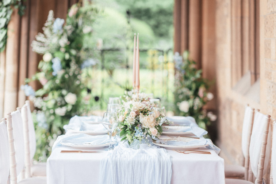 French Manor Styled Wedding Shoot in delicate blues, with Hannah McClune Photography on English Wedding Blog (9)
