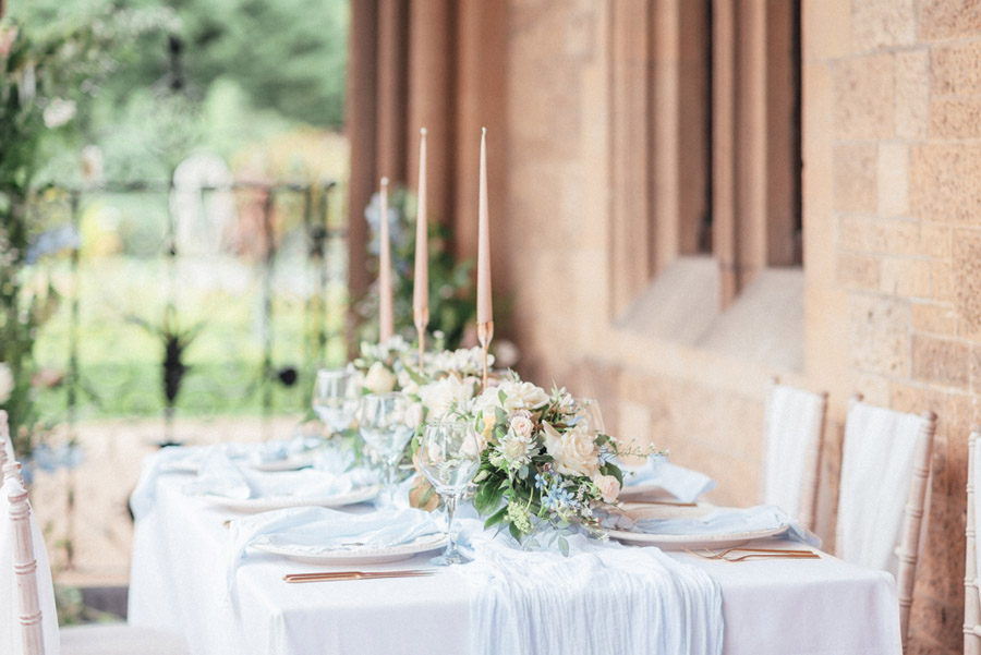 French Manor Styled Wedding Shoot in delicate blues, with Hannah McClune Photography on English Wedding Blog (10)