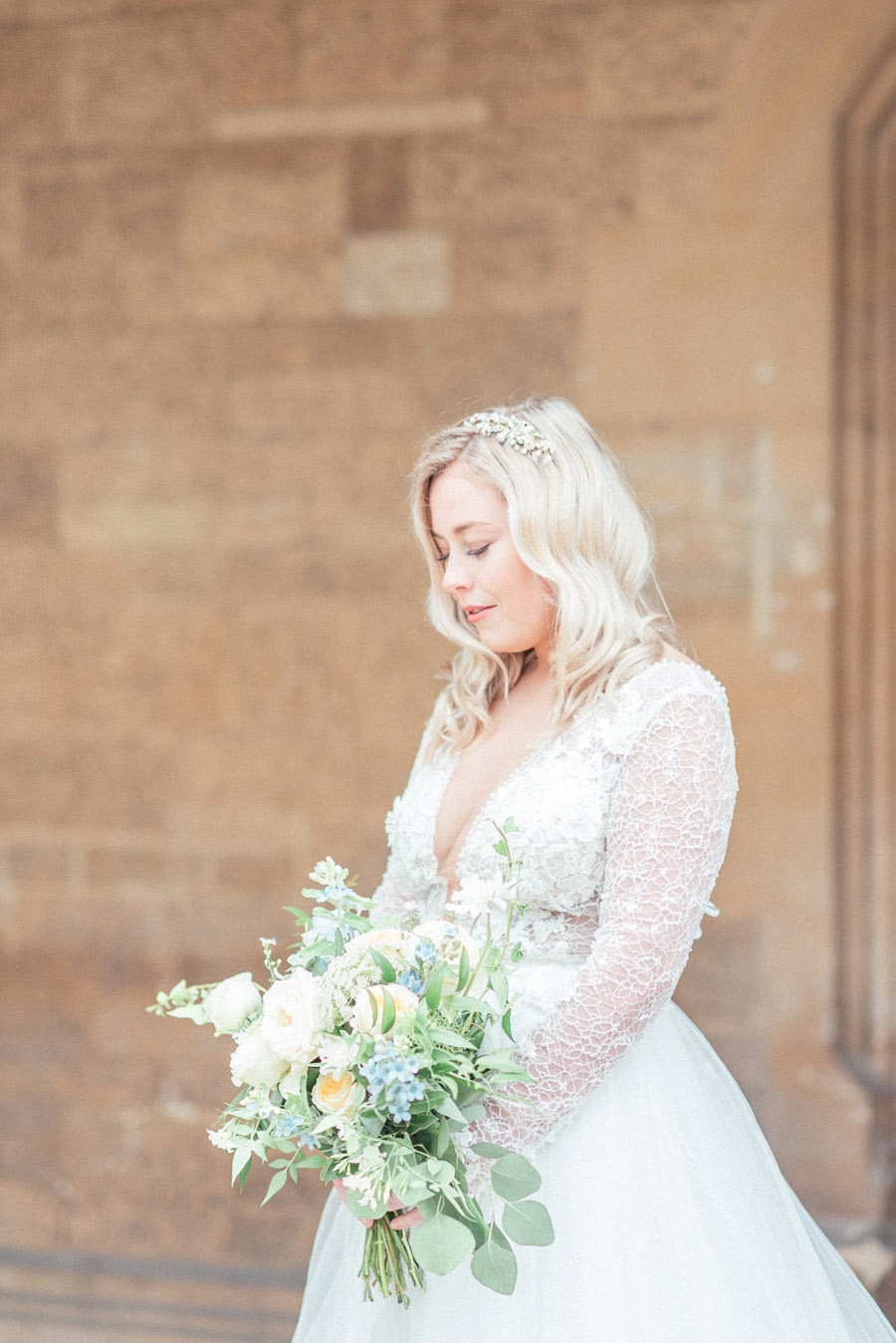French Manor Styled Wedding Shoot in delicate blues, with Hannah McClune Photography on English Wedding Blog (15)
