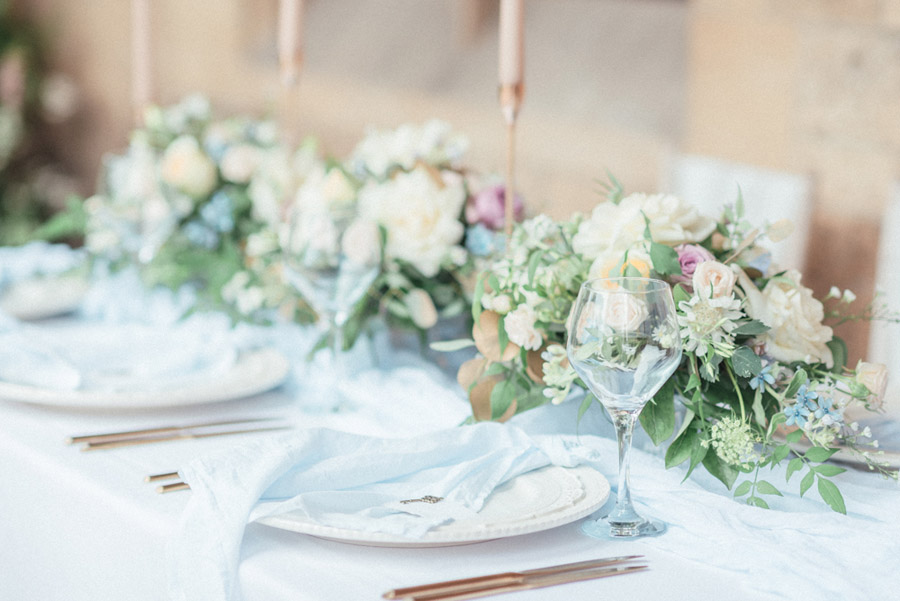 French Manor Styled Wedding Shoot in delicate blues, with Hannah McClune Photography on English Wedding Blog (3)