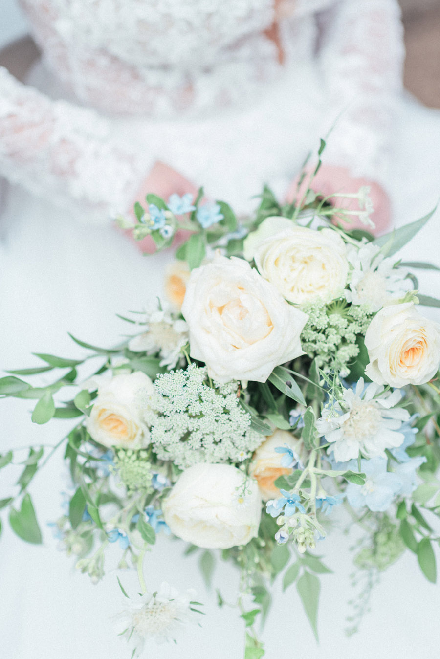 French Manor Styled Wedding Shoot in delicate blues, with Hannah McClune Photography on English Wedding Blog (22)