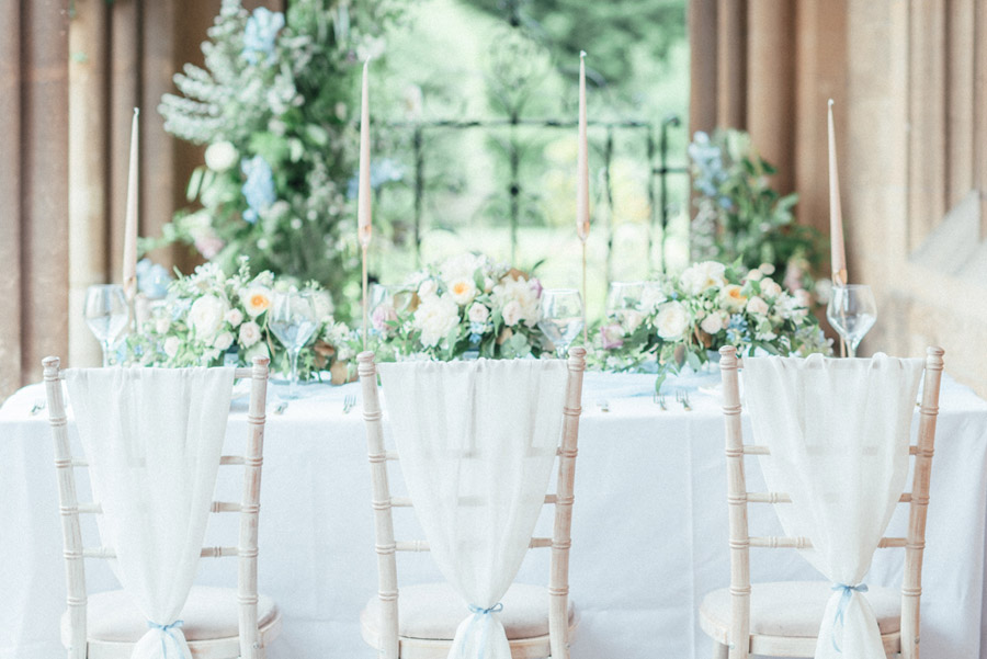 French Manor Styled Wedding Shoot in delicate blues, with Hannah McClune Photography on English Wedding Blog (4)