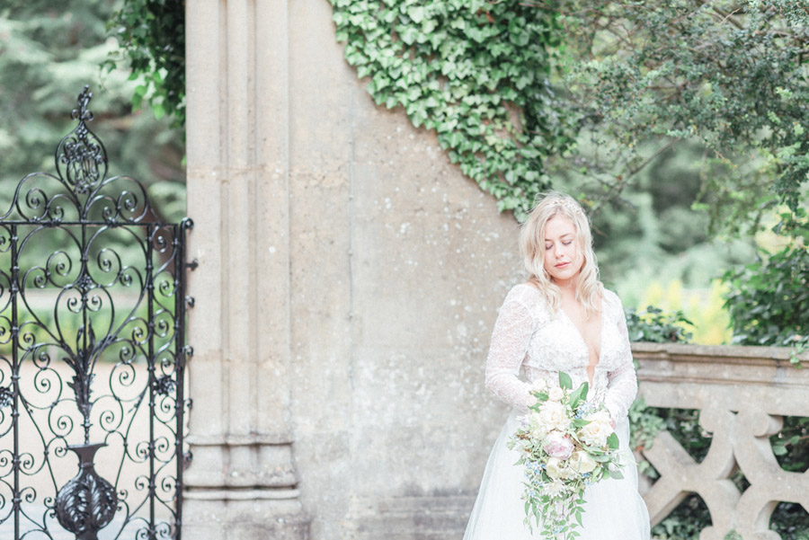French Manor Styled Wedding Shoot in delicate blues, with Hannah McClune Photography on English Wedding Blog (25)