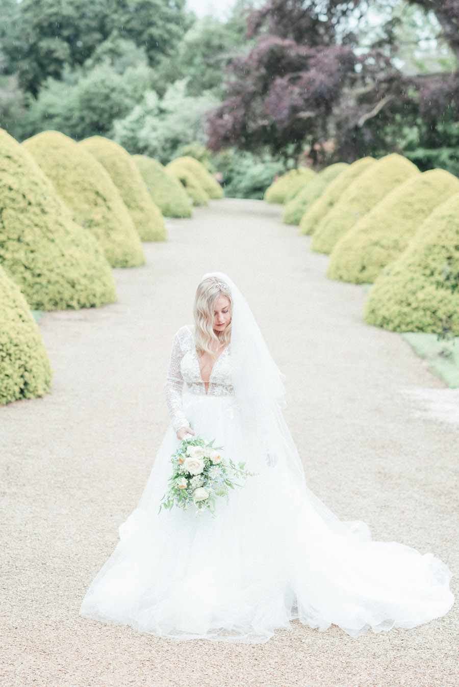 French Manor Styled Wedding Shoot in delicate blues, with Hannah McClune Photography on English Wedding Blog (26)