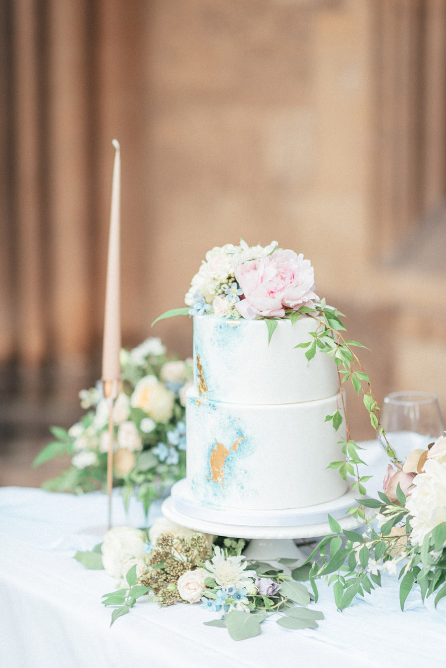 French Manor Styled Wedding Shoot in delicate blues, with Hannah McClune Photography on English Wedding Blog (46)