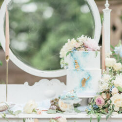 French Manor Styled Wedding Shoot in delicate blues