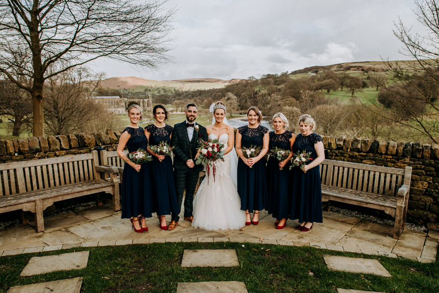 Tim & Emily's rustic and pretty Bolton Abbey wedding, with M and G Photography (28)