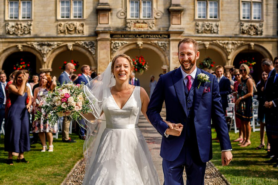 Steph & Tom's classic, timeless Magdalene College wedding, with photography by Lina and Tom (12)