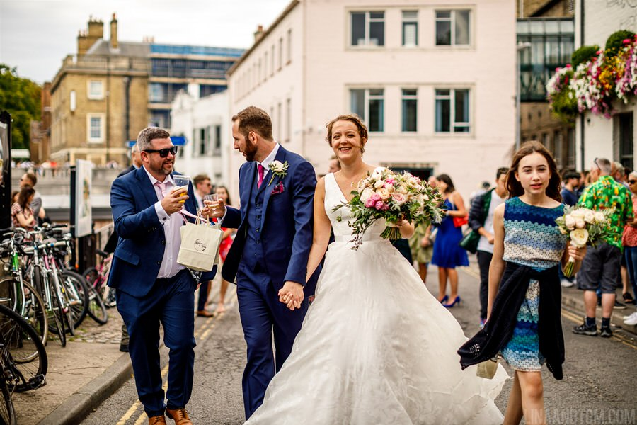 Steph & Tom's classic, timeless Magdalene College wedding, with photography by Lina and Tom (23)
