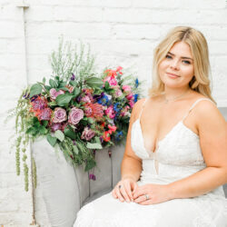 Modern intimate wedding styling inspiration from Slindon House