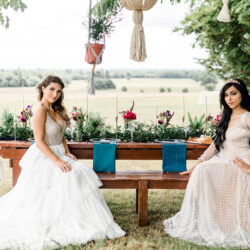 Modern Boho wedding style inspiration from Slindon House