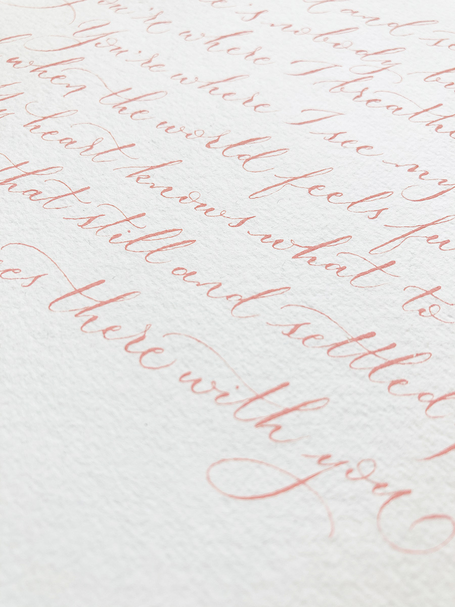 Wedding reading ideas - That Still and Settled Place, by Edward Monkton - calligraphy Claire Gould By Moon and Tide UK (3)