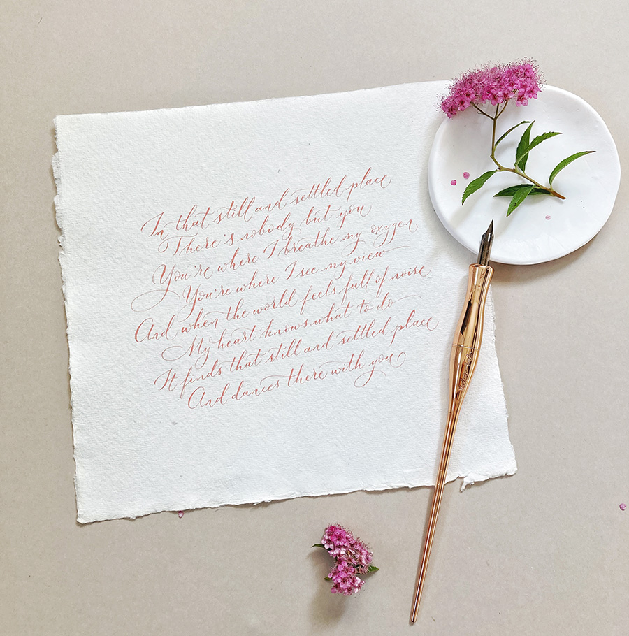Wedding reading ideas - That Still and Settled Place, by Edward Monkton - calligraphy Claire Gould By Moon and Tide UK (2)