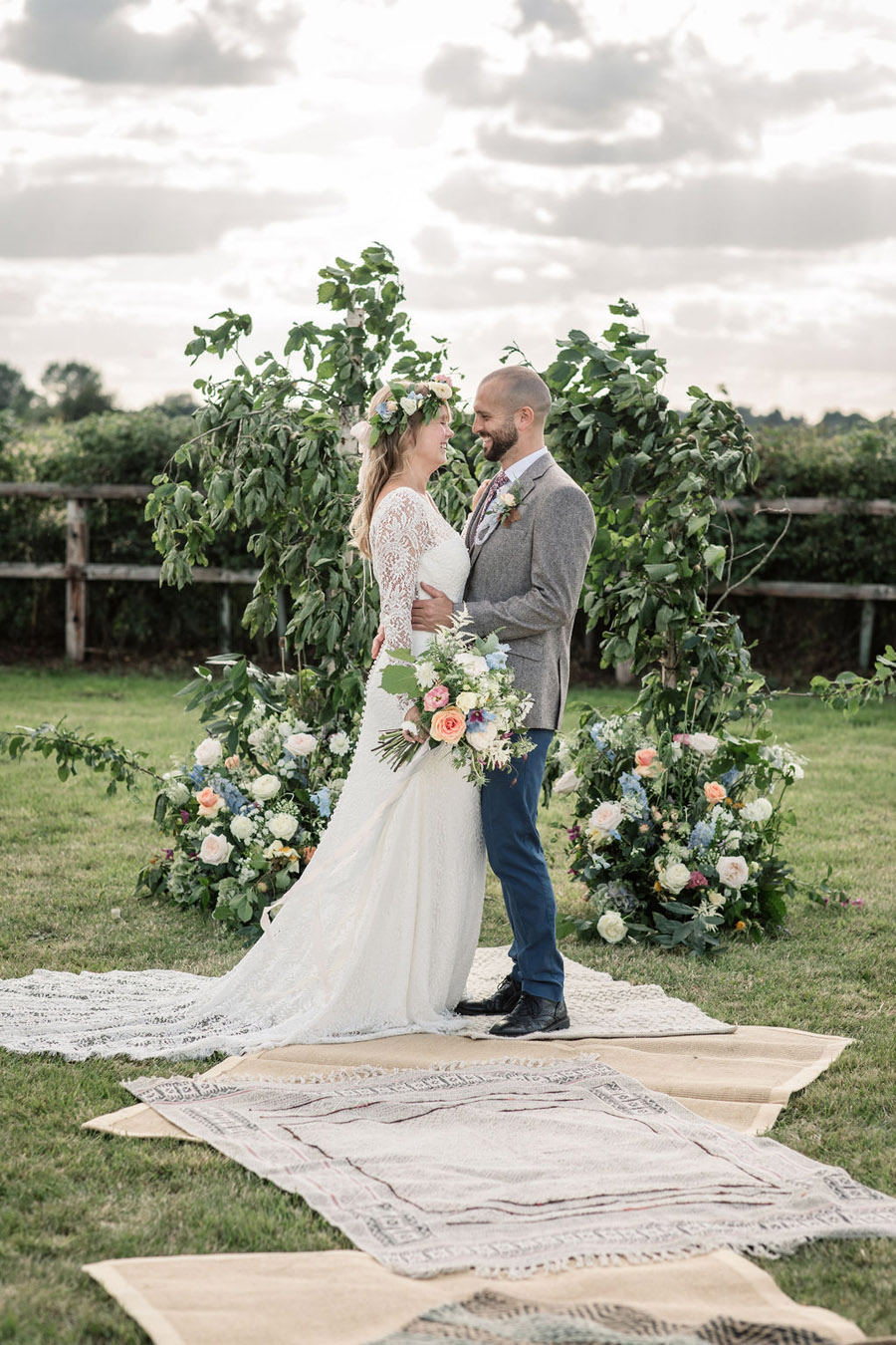 Evening sunset wedding inspiration at Willow Grange Farm, with Becky Harley Photography (21)