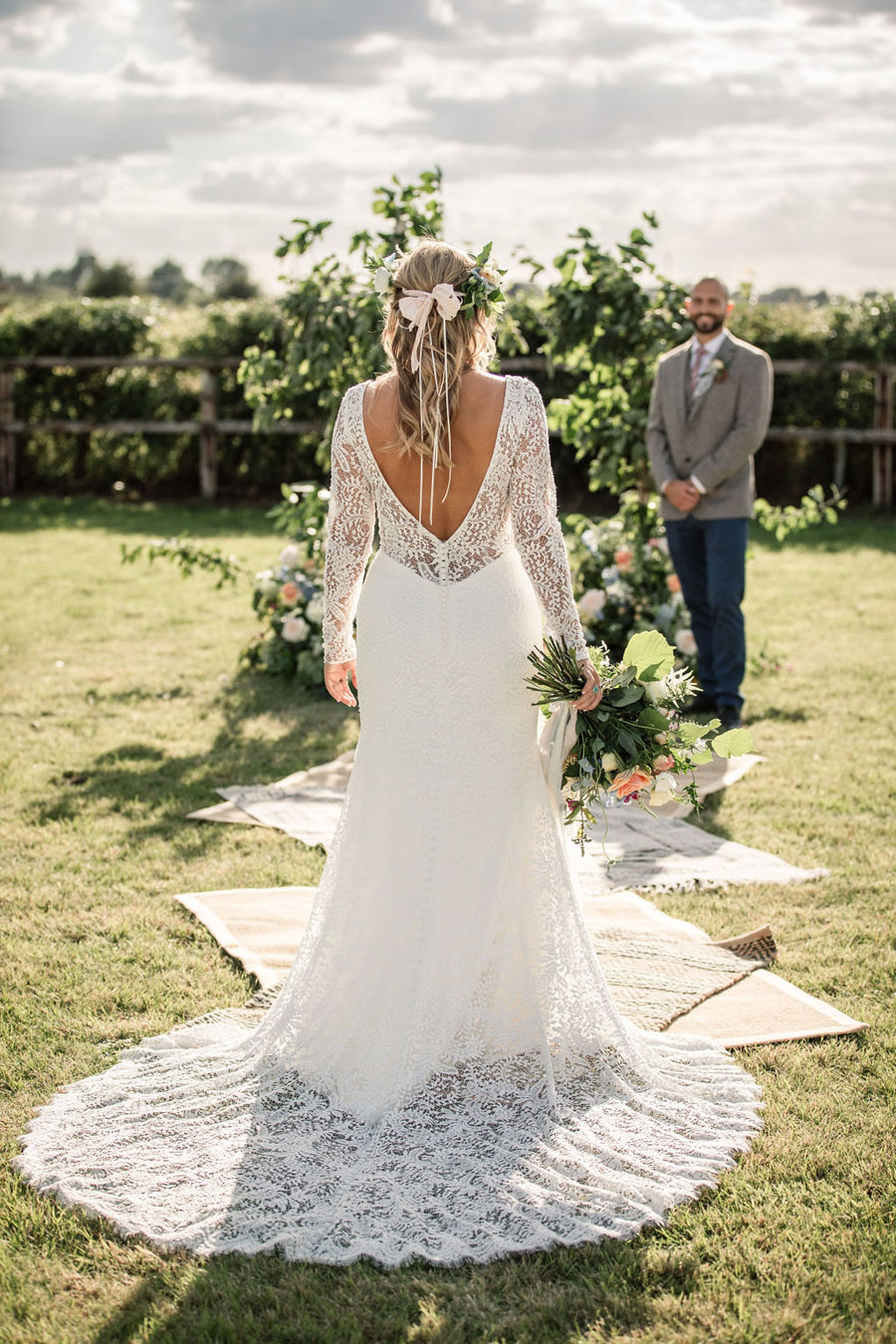 Evening sunset wedding inspiration at Willow Grange Farm, with Becky Harley Photography (23)