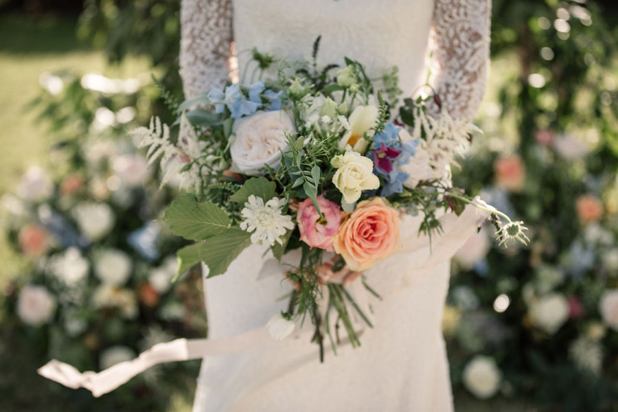Evening sunset wedding inspiration at Willow Grange Farm, with Becky Harley Photography (25)