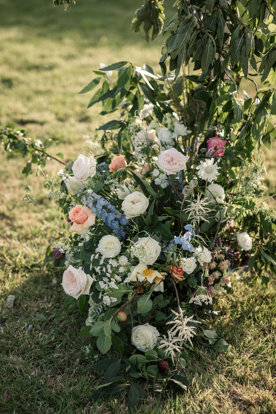 Evening sunset wedding inspiration at Willow Grange Farm, with Becky Harley Photography (30)