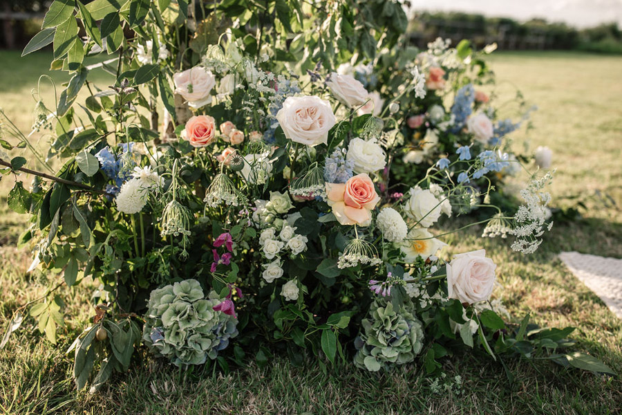 Evening sunset wedding inspiration at Willow Grange Farm, with Becky Harley Photography (31)