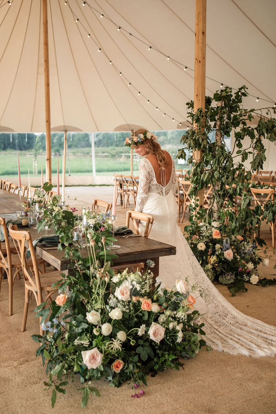 Evening sunset wedding inspiration at Willow Grange Farm, with Becky Harley Photography (36)