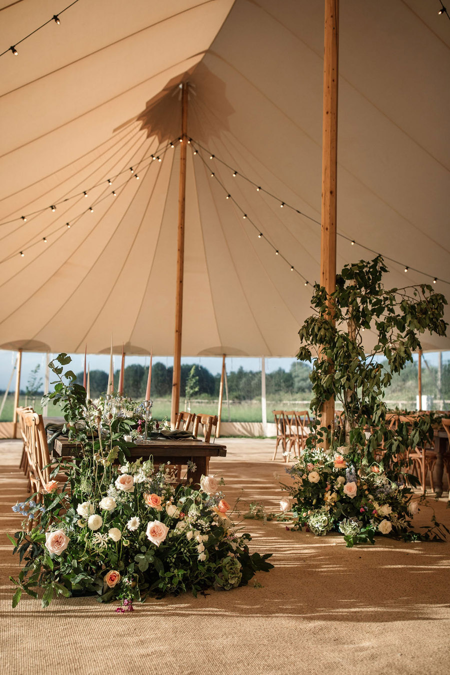 Evening sunset wedding inspiration at Willow Grange Farm, with Becky Harley Photography (37)