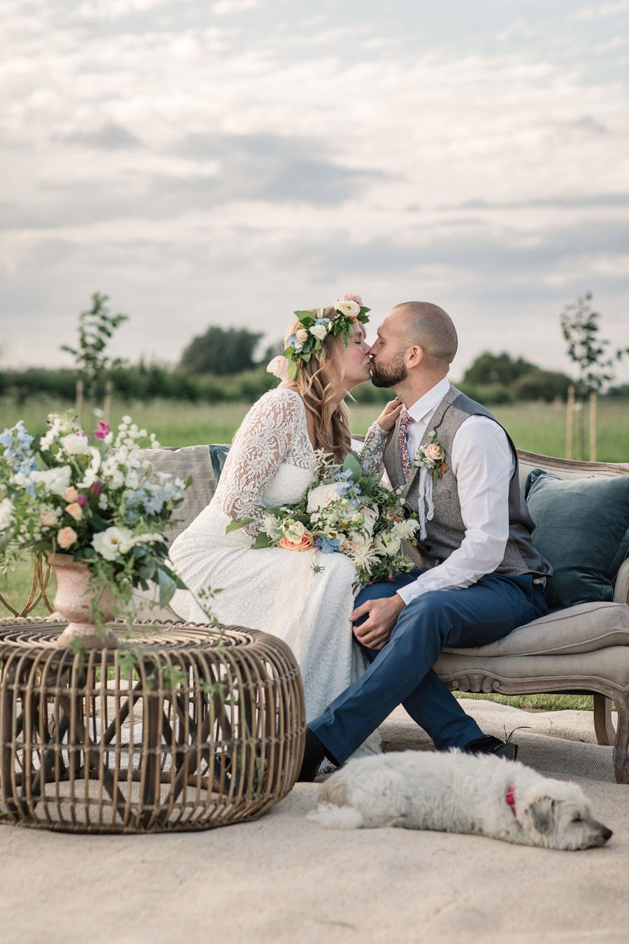 Evening sunset wedding inspiration at Willow Grange Farm, with Becky Harley Photography (39)