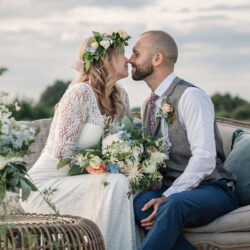 Evening sunset wedding inspiration at Willow Grange Farm, with Becky Harley Photography