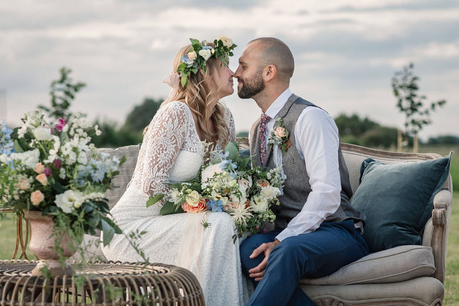 Evening sunset wedding inspiration at Willow Grange Farm, with Becky Harley Photography (40)