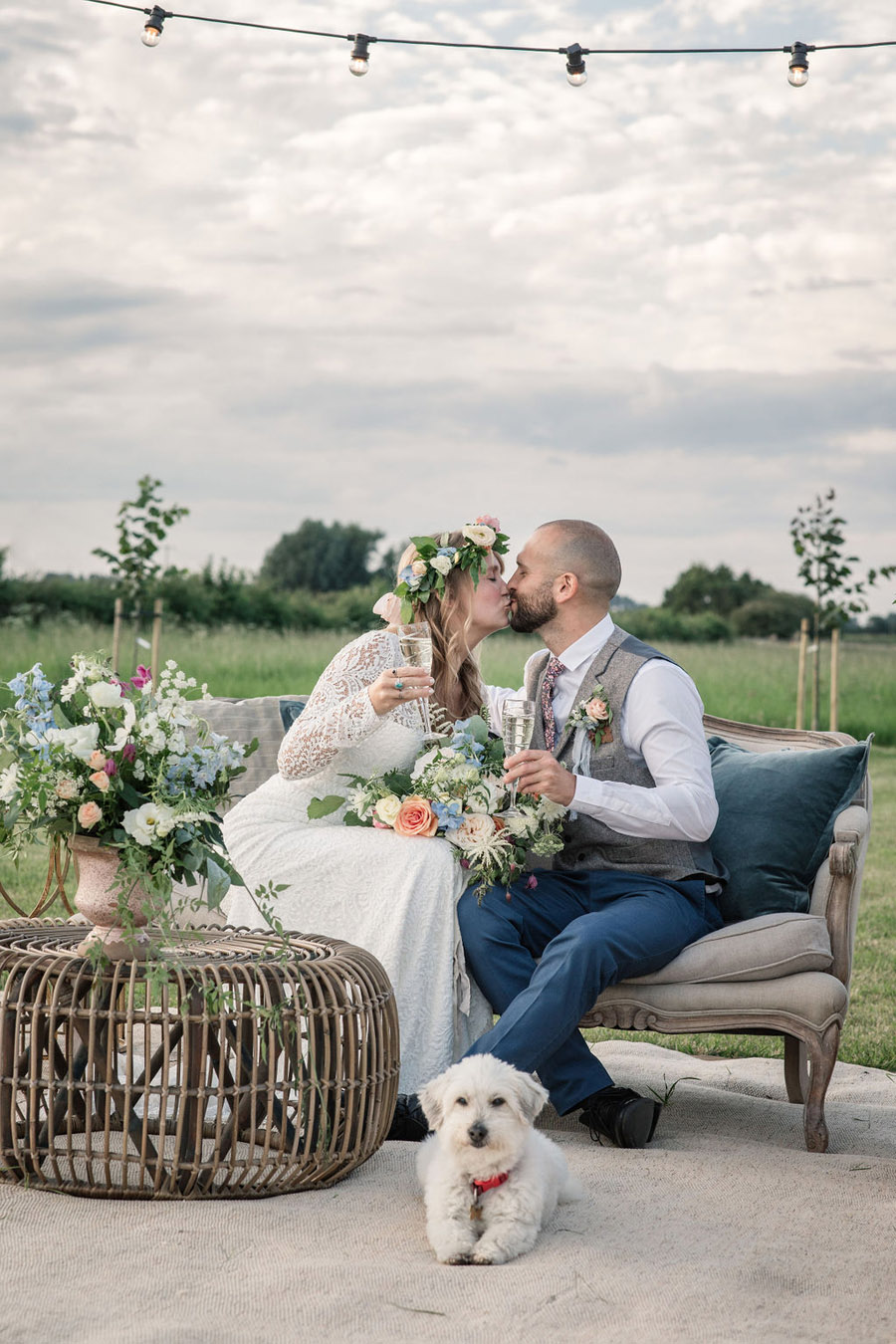 Evening sunset wedding inspiration at Willow Grange Farm, with Becky Harley Photography (42)