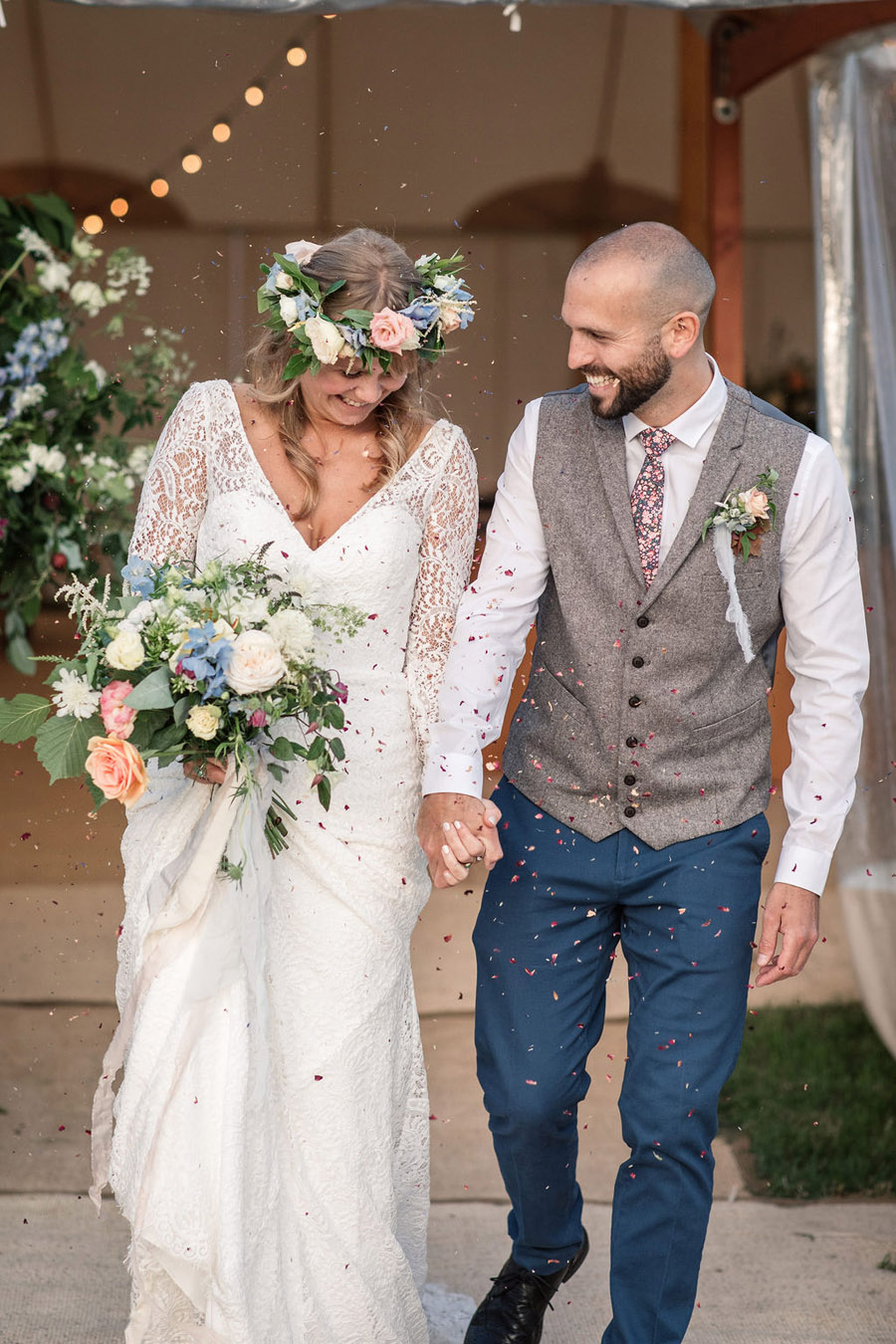 Evening sunset wedding inspiration at Willow Grange Farm, with Becky Harley Photography (43)