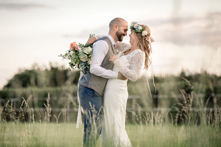 Evening sunset wedding inspiration at Willow Grange Farm, with Becky Harley Photography (44)
