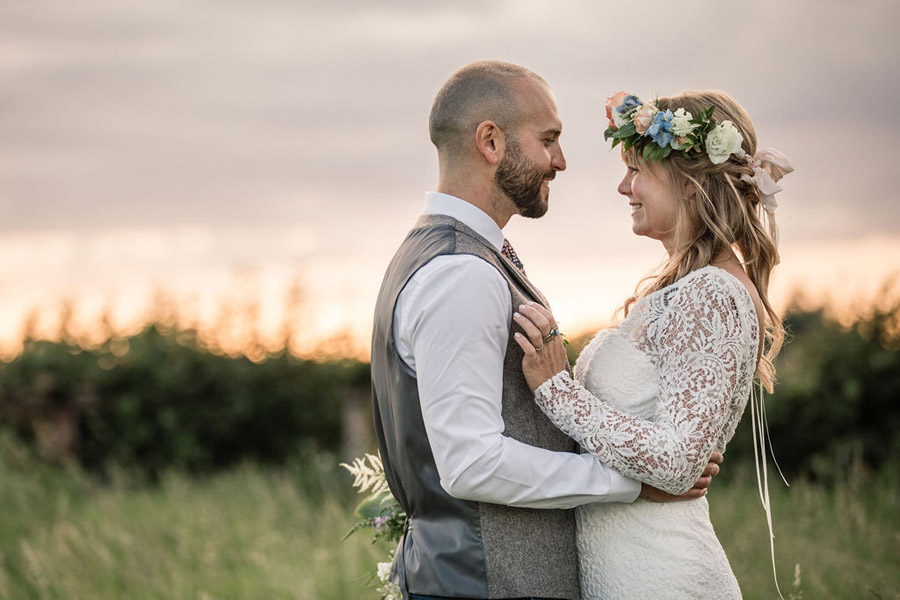 Evening sunset wedding inspiration at Willow Grange Farm, with Becky Harley Photography (45)