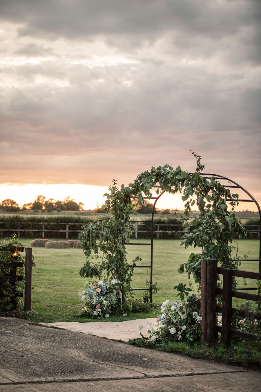 Evening sunset wedding inspiration at Willow Grange Farm, with Becky Harley Photography (47)
