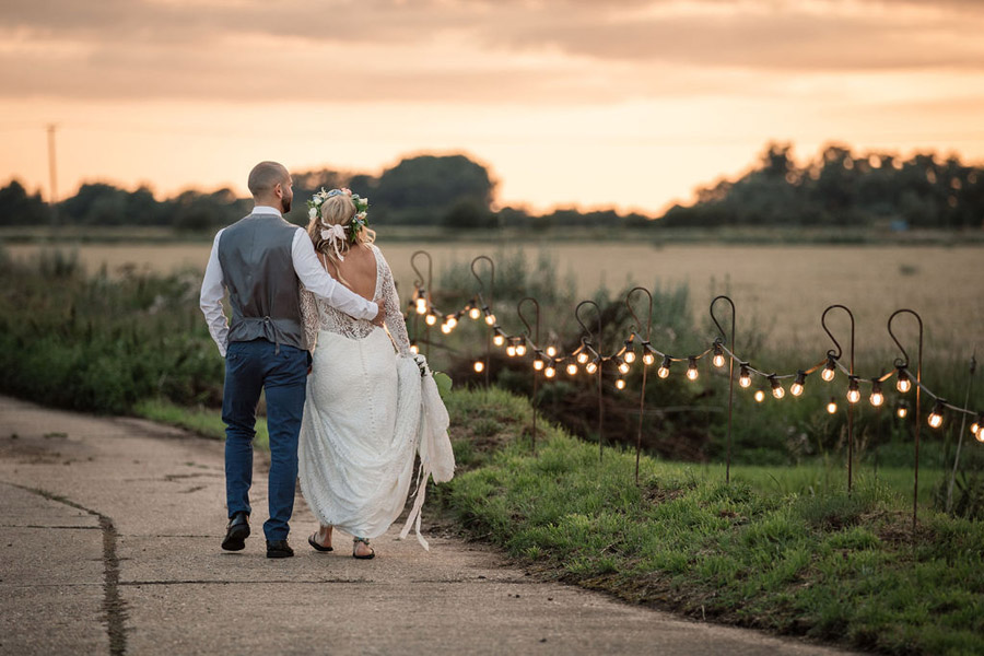 Evening sunset wedding inspiration at Willow Grange Farm, with Becky Harley Photography (50)