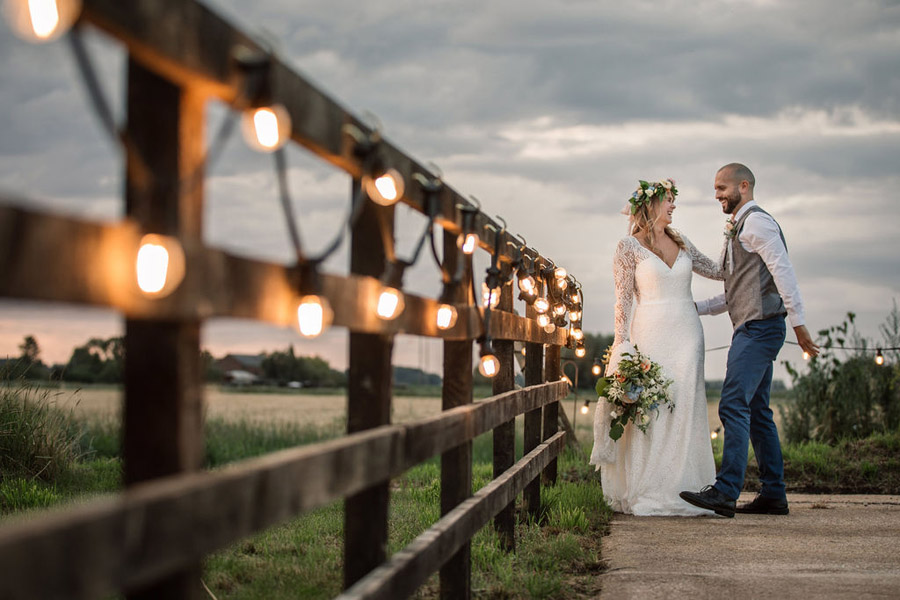 Evening sunset wedding inspiration at Willow Grange Farm, with Becky Harley Photography (51)