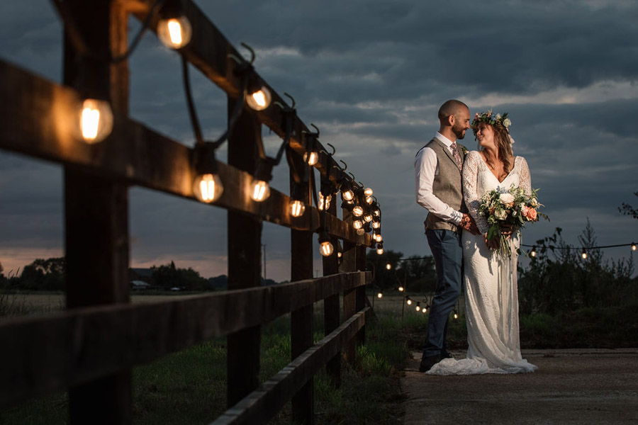 Evening sunset wedding inspiration at Willow Grange Farm, with Becky Harley Photography (52)