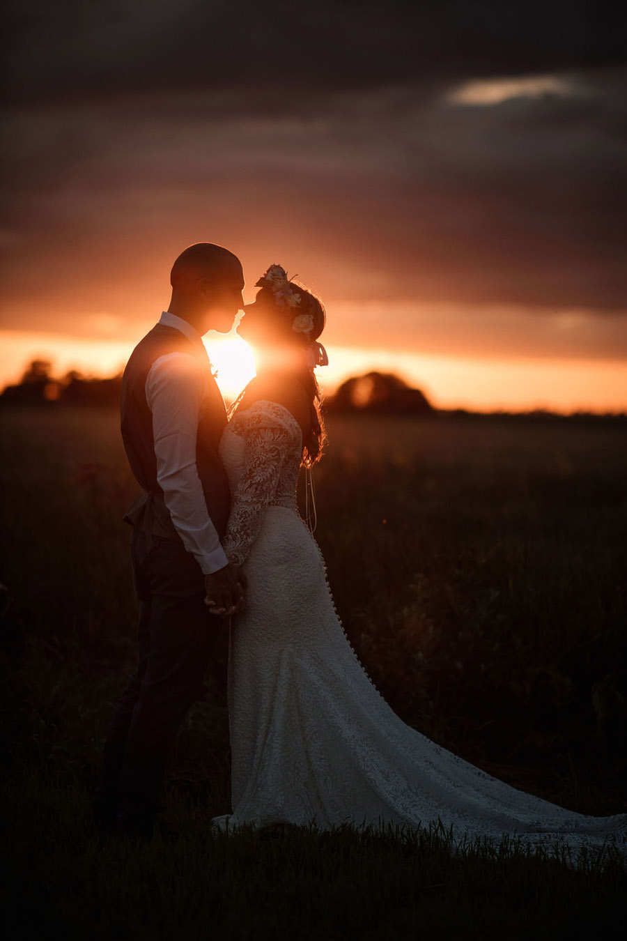 Evening sunset wedding inspiration at Willow Grange Farm, with Becky Harley Photography (55)