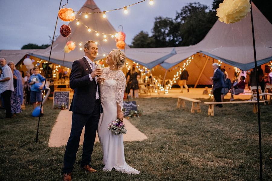 Wedding tipi Dorset by Coastal Tents; photographer credit Ellen J