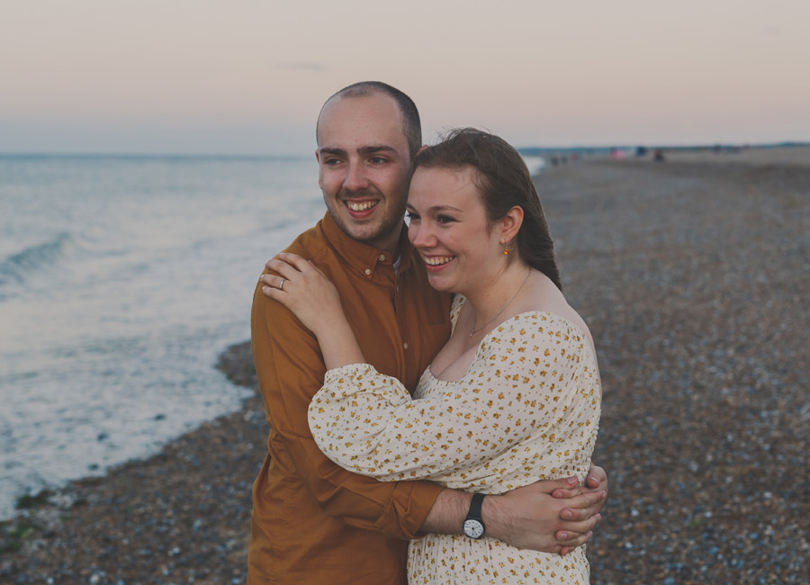 Engagement shoot at Cley Next The Sea Beach captured by Eternal Images Photography Ltd