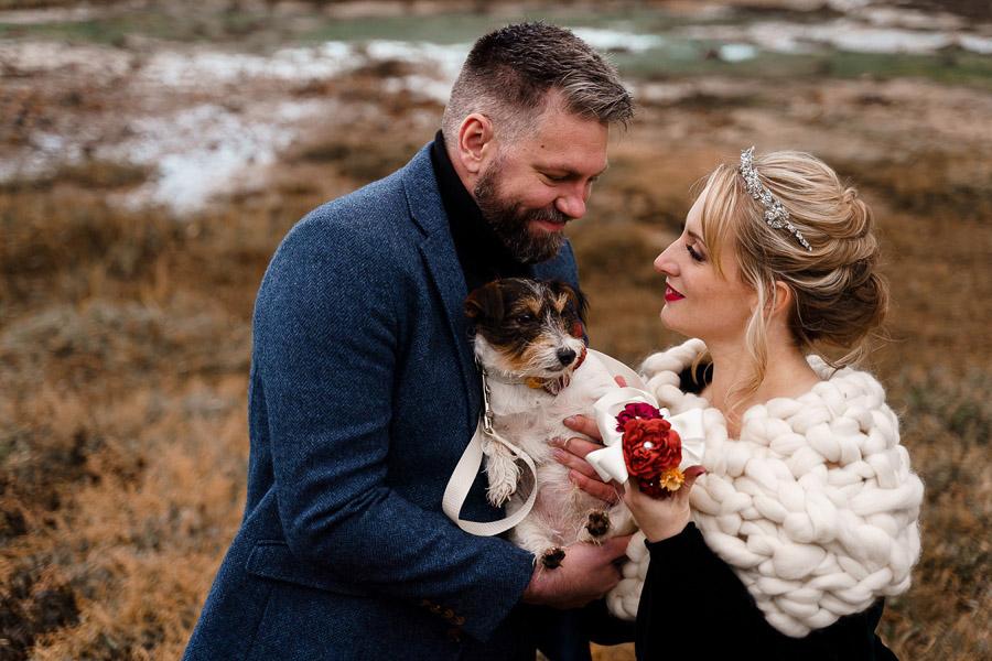 Katherine and her Camera, dog-friendly Hampshire wedding photographer, autumnal outdoor wedding at Tournerbury Estate