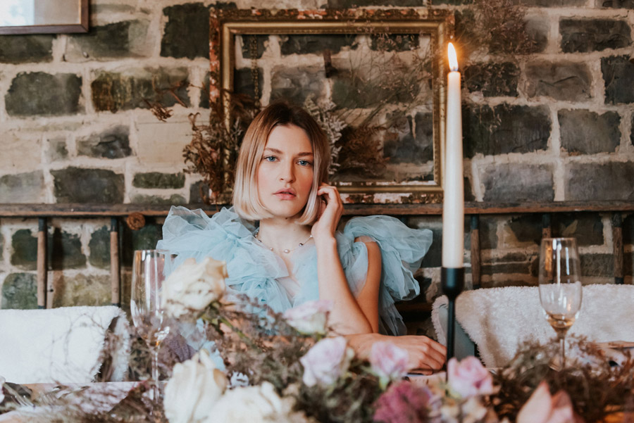 Midelney Manor – Winter pastel romance with a hint of gothic, image credit Hannah Barnes Photography (4)