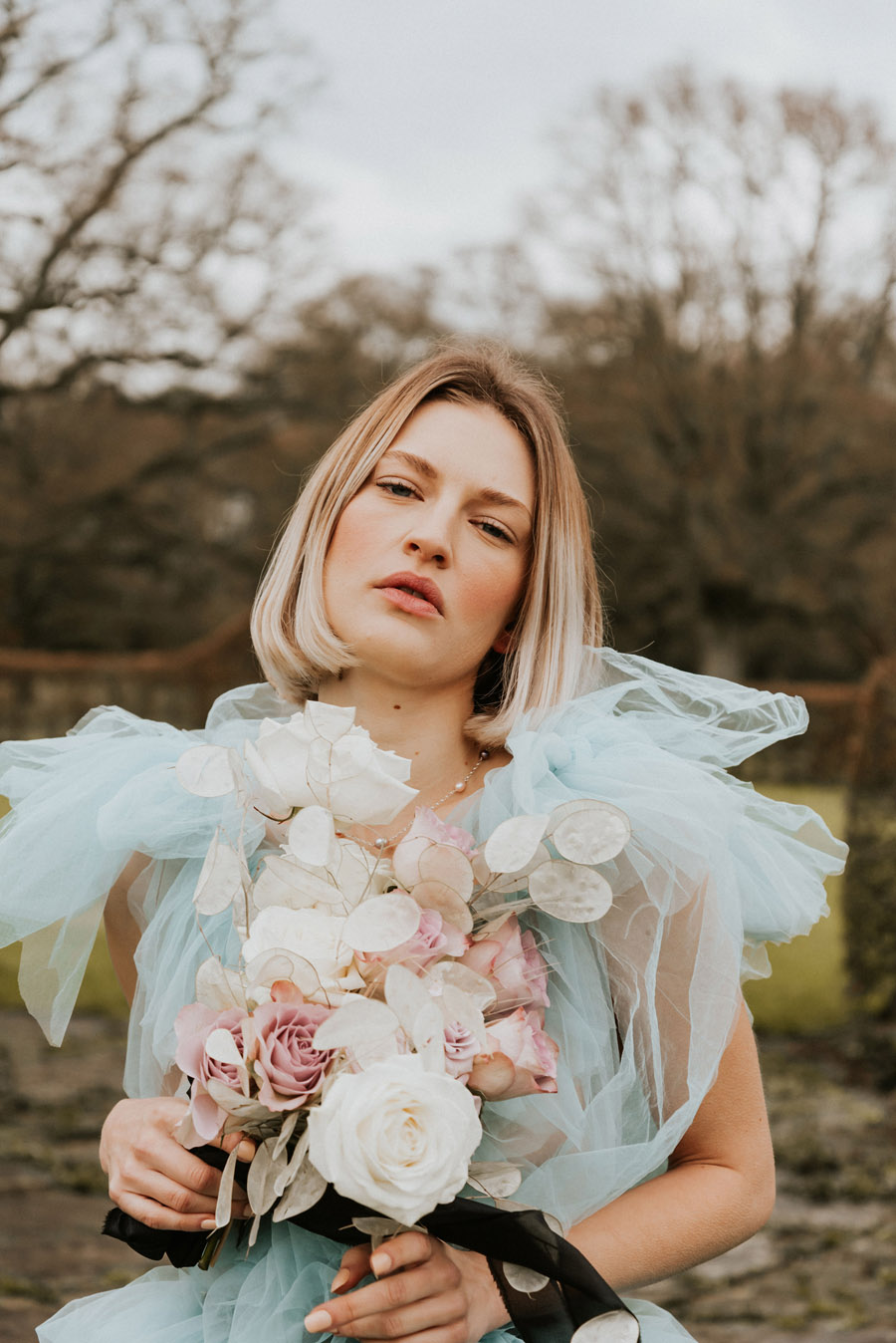 Midelney Manor – Winter pastel romance with a hint of gothic, image credit Hannah Barnes Photography (2)