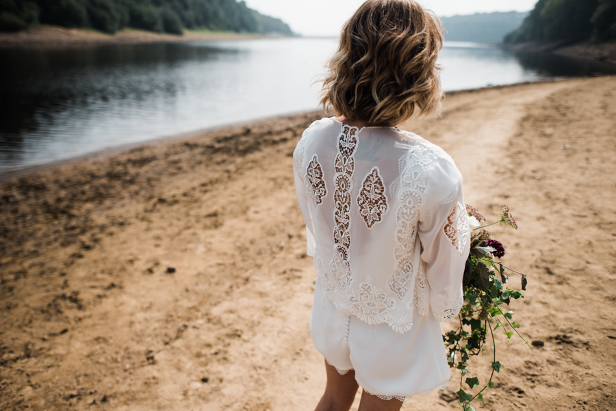 Sail away with me... wedding playsuit and fabulous florals by Fantail, image Fox Moon Photography (7)