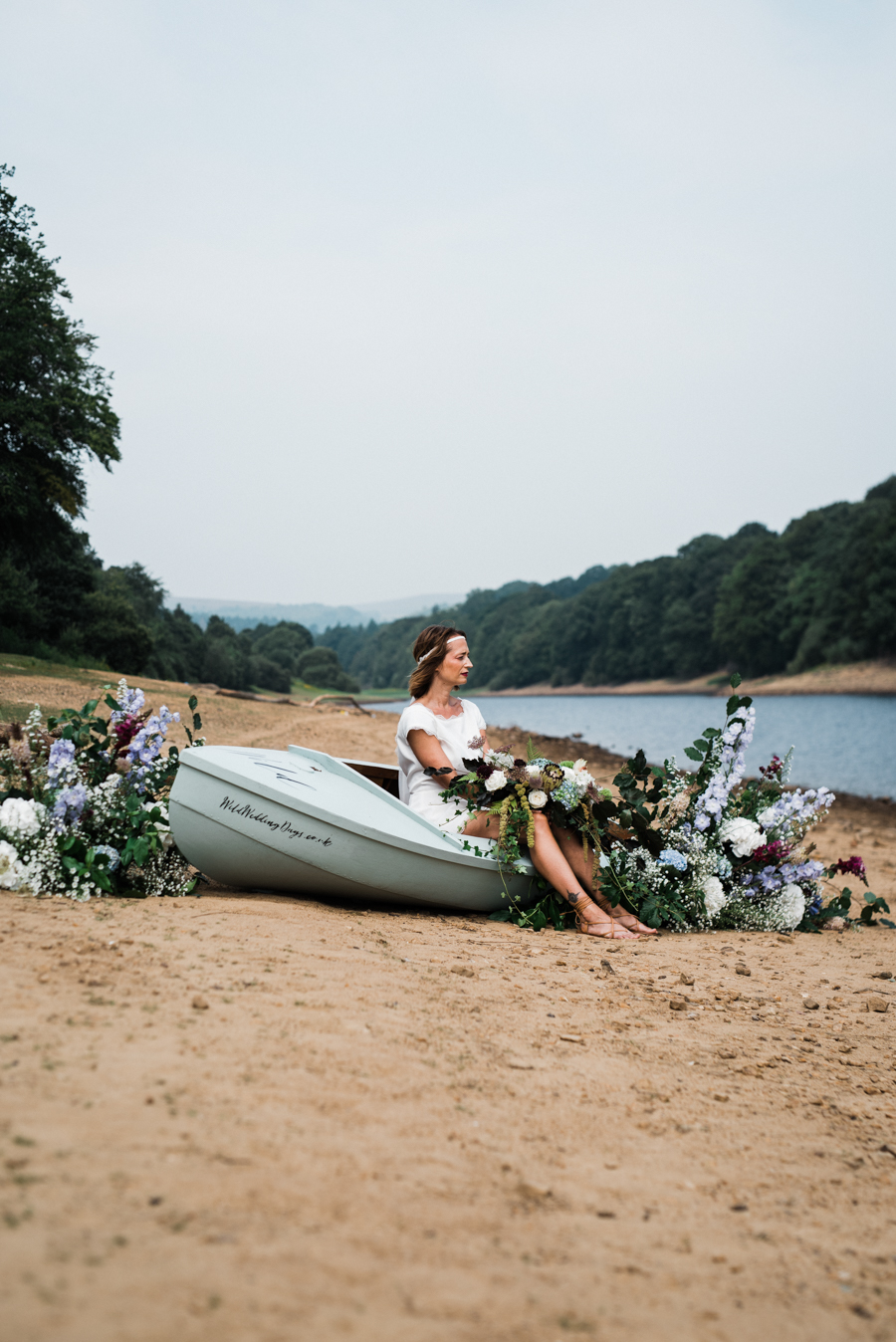 Sail away with me... wedding playsuit and fabulous florals by Fantail, image Fox Moon Photography (13)