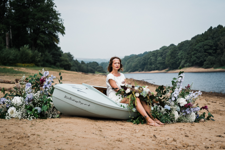 Sail away with me... wedding playsuit and fabulous florals by Fantail, image Fox Moon Photography (14)