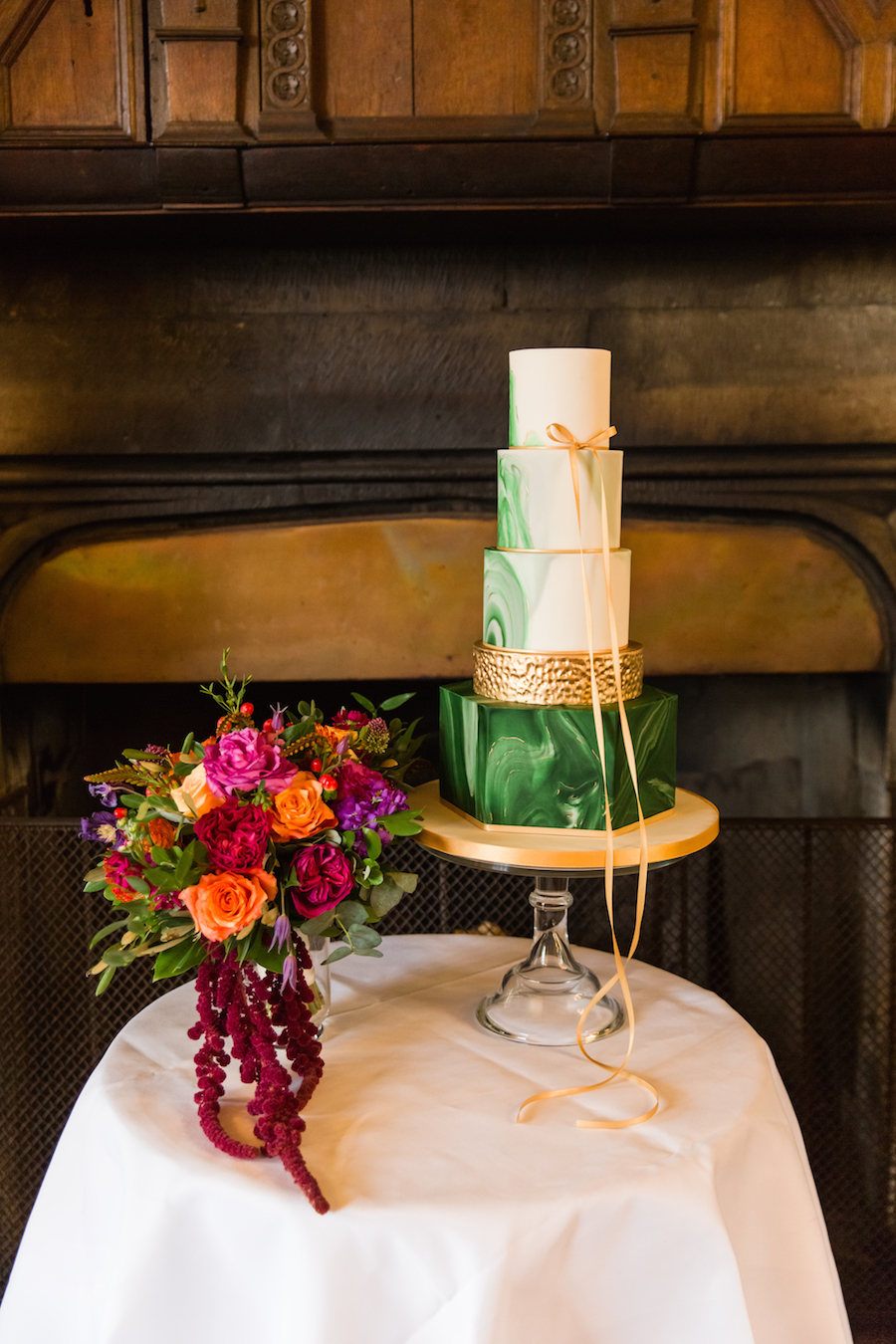 Jewel toned autumn wedding vibes from Layer Marney, image credit Ayshea Goldberg Photography (9)